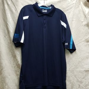 Under Armour Heat Gear Loose Polo Large Navy